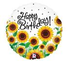 SET OF TWO 17 SUNFLOWER Balloons HAPPY BIRTHDAY Classy FUN FREE SHIPPING