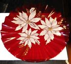 LARGE RED RUBY GLASS HAND BLOWN PLATE SIGNED BY THE MAKER