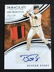 2016 PANINI IMMACULATE BUSTER POSEY AUTO PATCH #d 1 1 GIANTS JERSEY ONE OF ONE