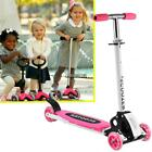 Kids 3 Wheel Adjustable Height Kick Scooter with LED Light Up Wheels MY8L