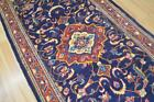 4'2 x 10'4 Fine Genuine Semi Antique Persian Mahal Sarouk Hand Knotted Wool Rug