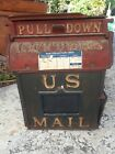 Antique 1889 Cast Iron U.S. Mail Box Reading Stove Works Letters Post Office