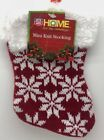 Home For The Holiday Red Knit Snowflakes 7 Christmas Knit Stocking