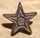 Rustic Iron Texas Star Cabinet Knobs Drawer Pulls Primitive Western Set of 4