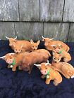 Vintage Cow Calf Deer Bull Farm Nativity Animals Germany Lot Of 9