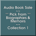 Audio Book Sale Biographies  Memoirs 1 Pick what you want to save
