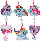 Set of 6 Hasbro My Little Pony Customizable Hanging Christmas Tree Ornaments