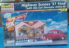 1937 Ford 2 Door Sedan Highway Scenes With Die-Cut Drive-In Diorama 1/24 Scale