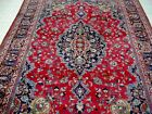 10X7 1940's MAGNIFICENT HAND KNOTTED 70+YRS ANTQ SIGNED WOOL MASHADD PERSIAN RUG