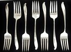 Lot of 7 WALLACE Wishing Star Sterling Flatware Salad Forks 6 3/8
