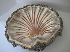 Vintage Amston Footed Clam Shell Bowl Silverplate Fruit or Grape Design 1799