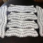 és French Net Ruffles Scalloped Embroidered Edge LOT 6