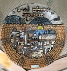 Mint Condition Jerusalem Glass Plate Handmade in Israel