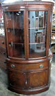 Corner Display China Cabinet Morganton Curved Glass Front Door Drawer Dining Rm