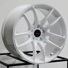 17x9 Vors TR4 5x1143 30 White Wheels Rims Set4