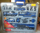 1999 Fast Lane 20 Piece Police Set with Carry Case Wrecker Helicopter Truck SUV