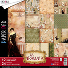 CIAO BELLA 12X12 PAPER COLLECTION LA TRAVIATA 12 SHEETS