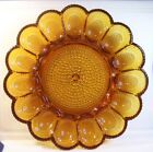 VINTAGE INDIANA GLASS AMBER HOBNAIL DEVILED EGG TRAY PLATE 11-1/4