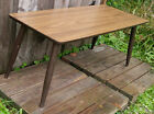 Vintage Mid Century MCM Low Coffee Accent Table, Tapered Legs, Laminate Top
