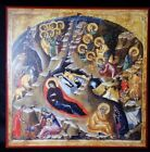large Nativity of Christ Modern Orthodox Christian Icon 12 x 12 inches