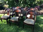 Antique Set Of 6  Period Empire Victorian Transitional Dining Chairs Exceptional