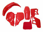 Body Plastic Side Cover Fairing Kit Cherry Fighting Red Honda 1989 89 CR 125 250