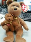 TY BEANIE BABIES 2005 SIGNATURE BEAR AND BABY