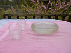 8 Piece Indiana Glass Recollection Madrid Snack Set Clear 4 Plates 4 Cups