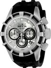 Invicta 22147 Bolt Men's 50mm Black Rubber Stainless Steel Silver Dial Watch