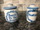 Lot of Two M A Hadley: Mustard and Sweets To The Sweet with Lids
