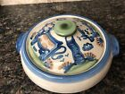 M A Hadley Pottery  Covered Casserole COW & PIG Country Pattern