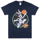 LOONEY TUNES SPACE JAM BUGS BUNNY T SHIRT NAVY MENS TUNE SQUAD MOVIE TEE