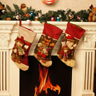 Large Christmas Holiday Presents Gifts Stocking Reindeer Stockings Tree Decor