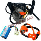 24mm Carburetor Racing CDI Box 6pin Ignition Coil for 50cc 150cc Scooter Go Kart
