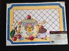 NIP MARY ENGELBREIT 6 Count Paper Placemats 10 X 14 Teapot Cupcake Cherries NEW