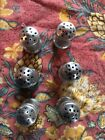 individual Pewter Salt And Pepper Shakers marked pewter set of 6
