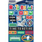 Scrapbooking Crafts Stickers 3D Retirement Time to Relax Good Life Enjoy R
