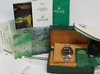 16713 Rolex GMT Master II 18k Gold SS Black On Black Watch Box Papers