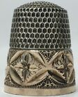 Near Mint - Simons Bros. Sterling Thimble with Gold Hand Chased Band - Size 9