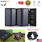 Foldable 3USB Solar Panel 28W Cell Phone Power Bank External Battery Charger US