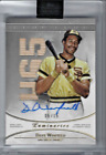 Dave Winfield #05 15 On Card Auto Game Used Bat 456 HR Topps Luminaries Padres
