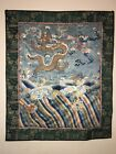Chinese Antique Kesi Silk Embroidery Panel Textile Tapestry Rank Badge Dragon