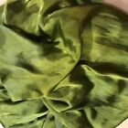 Hand Dyed silk Fabric silk charmeuse  14 x 42 inches hand dyed