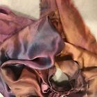 Hand Dyed silk Fabric silk charmeuse  11 x 42 inches hand dyed