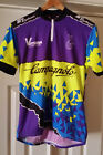 Mens MEDIUM 3 Pocket Cycling Jersey ST CYCLEWEAR Stretch CAMPAGNOLO Short Sleeve