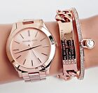 Michael Kors damenuhr mk3197 slim runway farbe rose gold neu