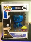 Funko Pop 2017 SDCC Blue Chrome Batman Toy Tokyo Exclusive with Stack