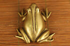 Rare chinese old Brass hand carving frog figure statue fortune noble gift