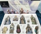 Retired Royal Doulton 10 Piece Hand Painted Fine Porcelain Nativity Set Xmas