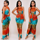 Womens Summer Boho Floral Sleeveless Slim Mini Beach African Clothing Sun Dress